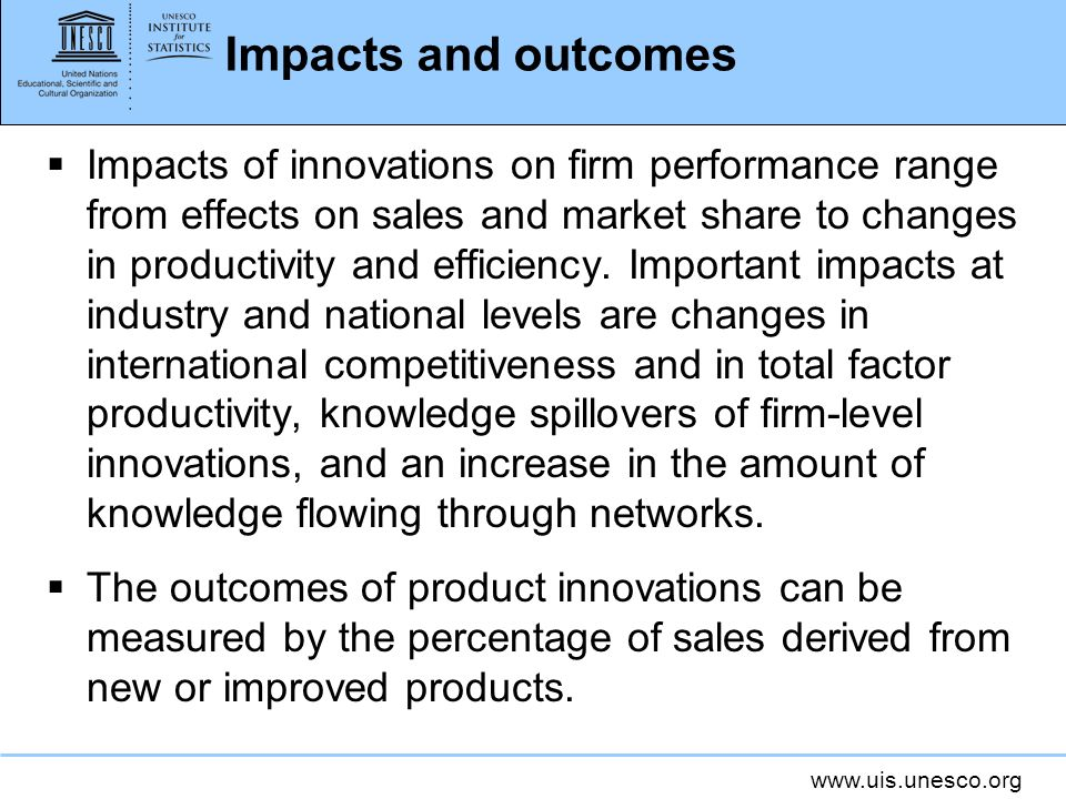 Impacts and outcomes