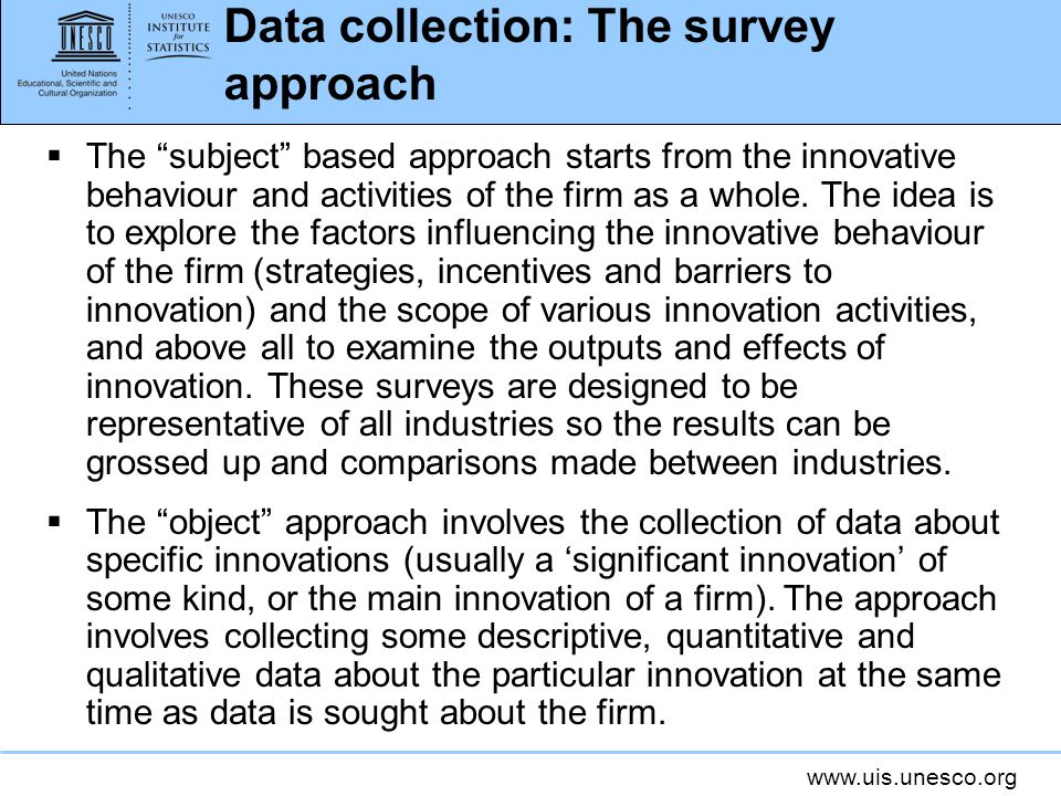 Data collection: The survey approach