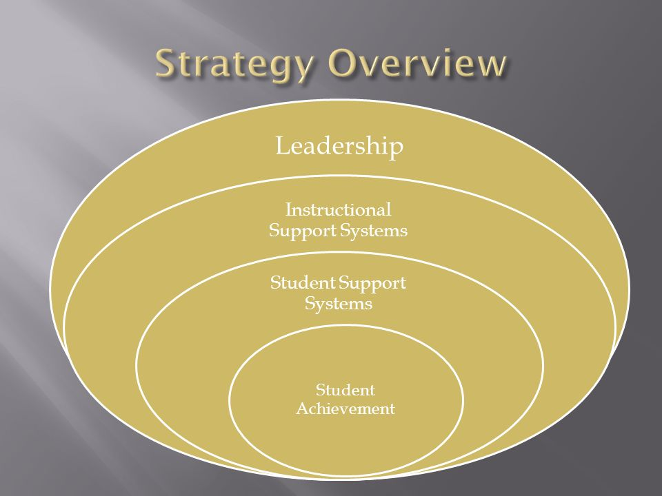 Strategy Overview Leadership Instructional Support Systems