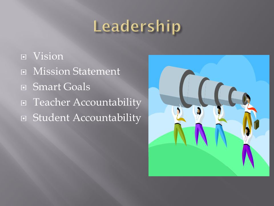 Leadership Vision Mission Statement Smart Goals Teacher Accountability