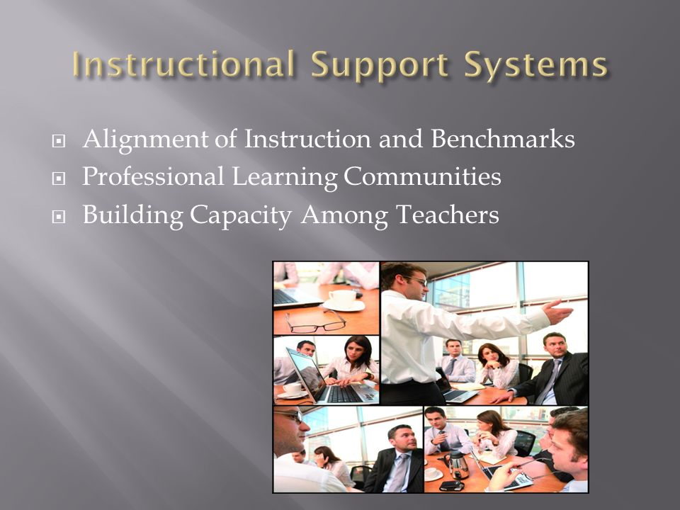 Instructional Support Systems