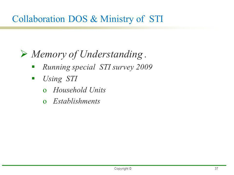 Collaboration DOS & Ministry of STI