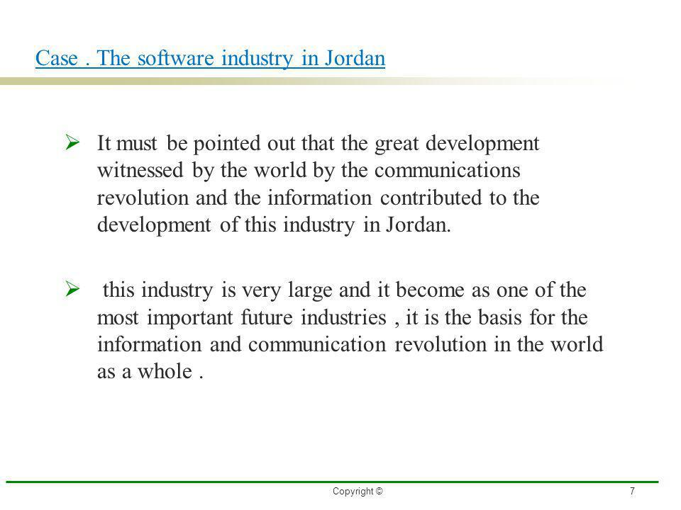 Case . The software industry in Jordan