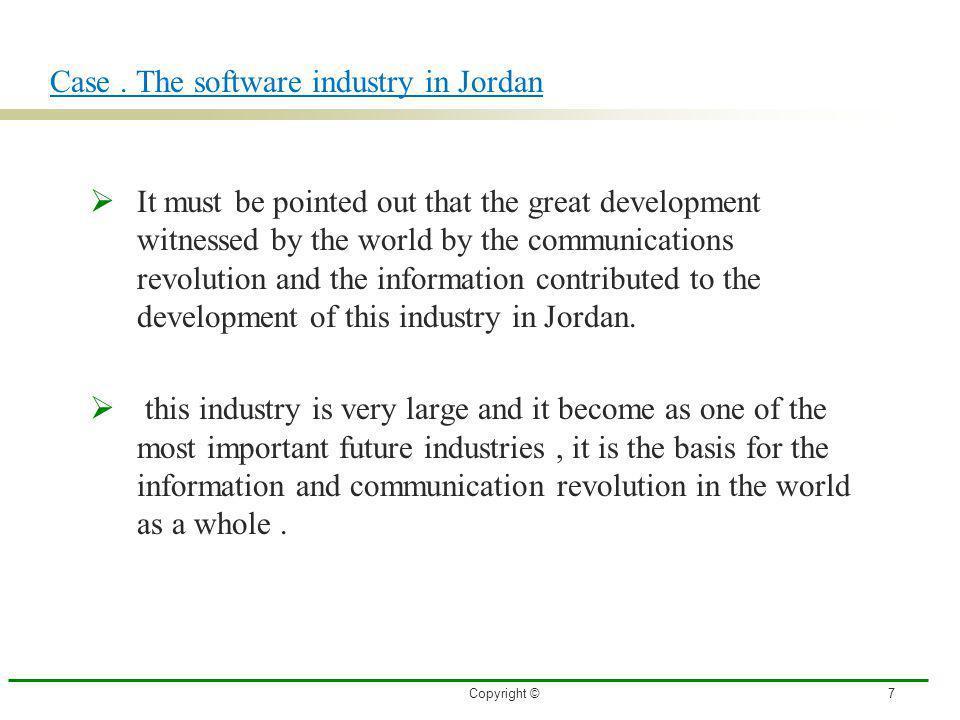 Case . The software industry in Jordan