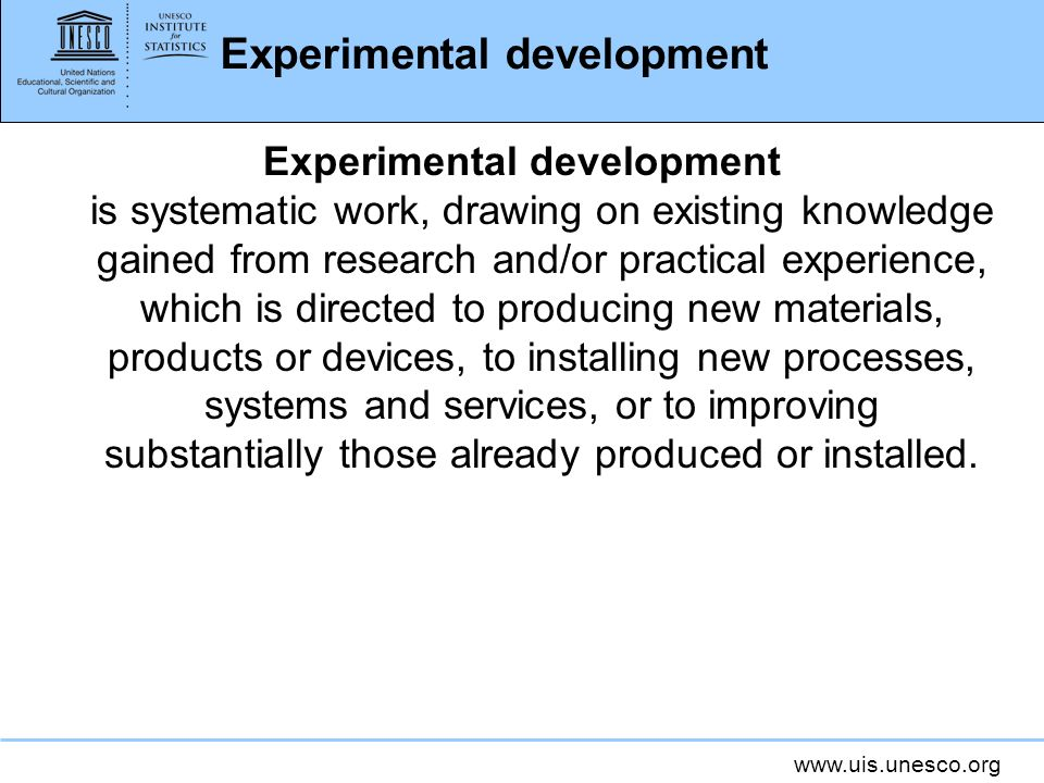 Experimental development