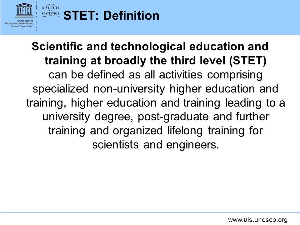 STET: Definition