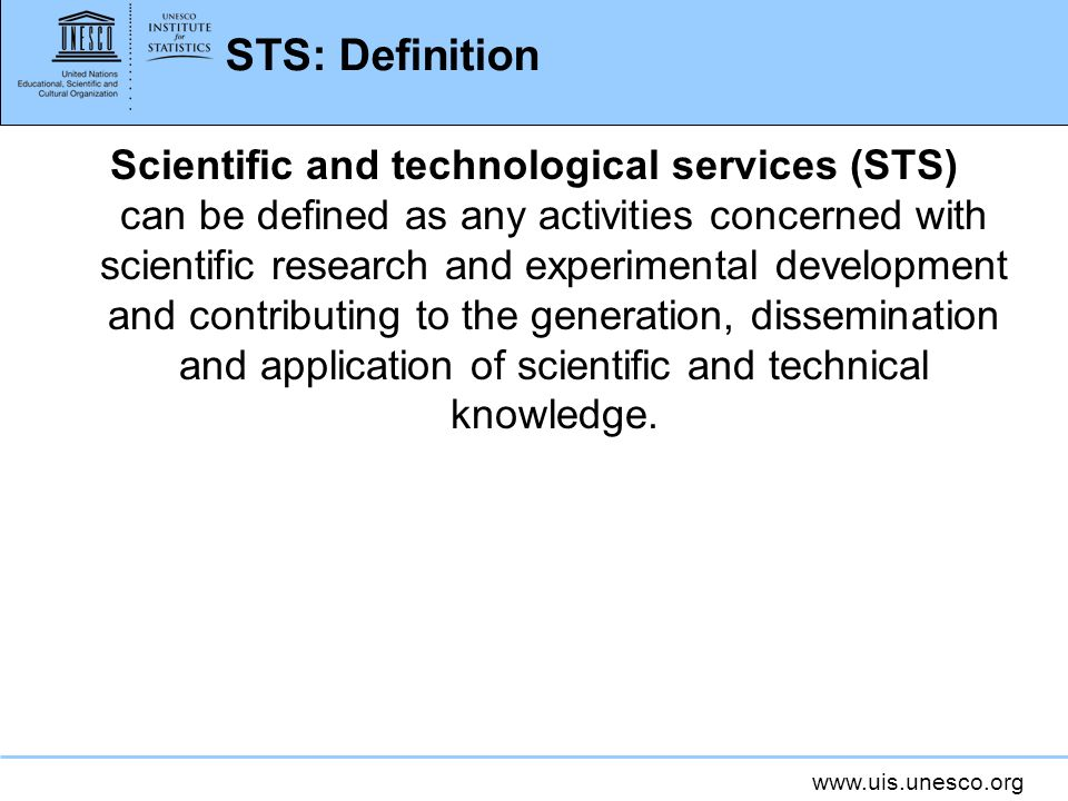 STS: Definition