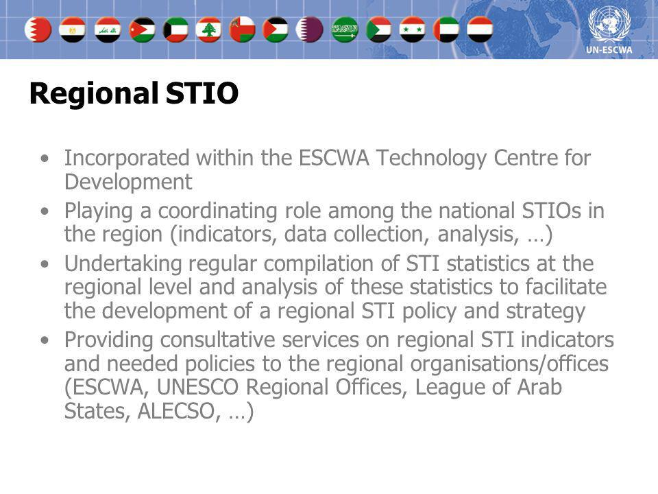 Regional STIO Incorporated within the ESCWA Technology Centre for Development.