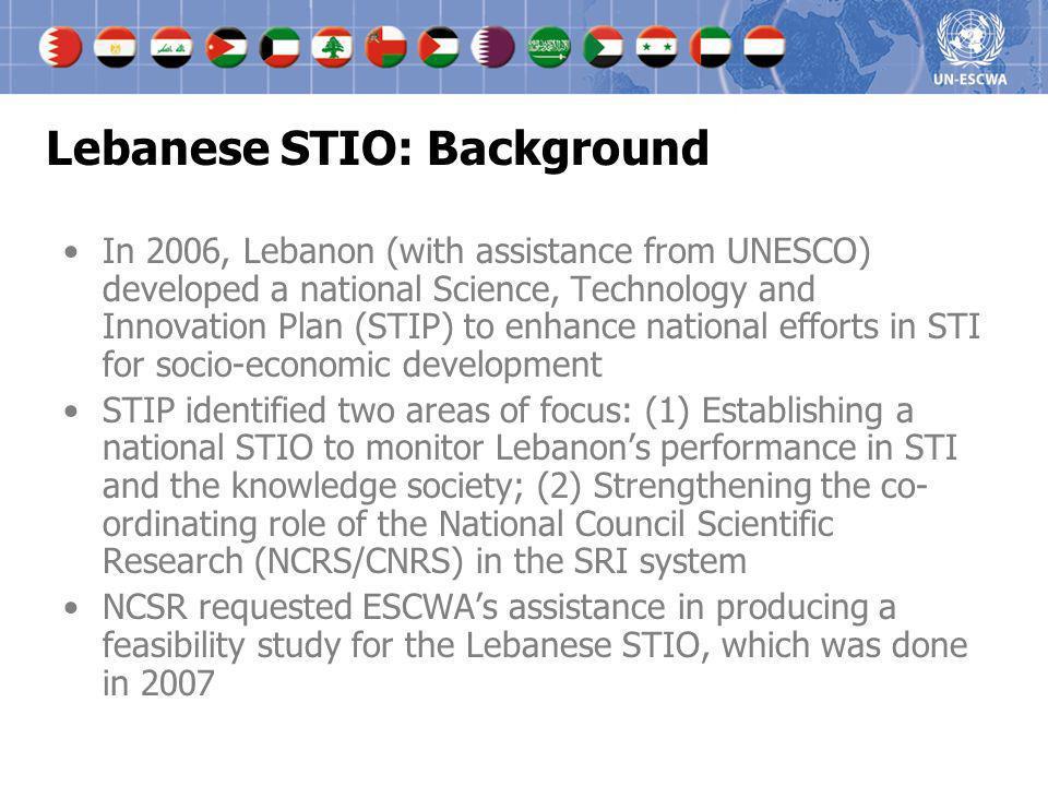 Lebanese STIO: Background