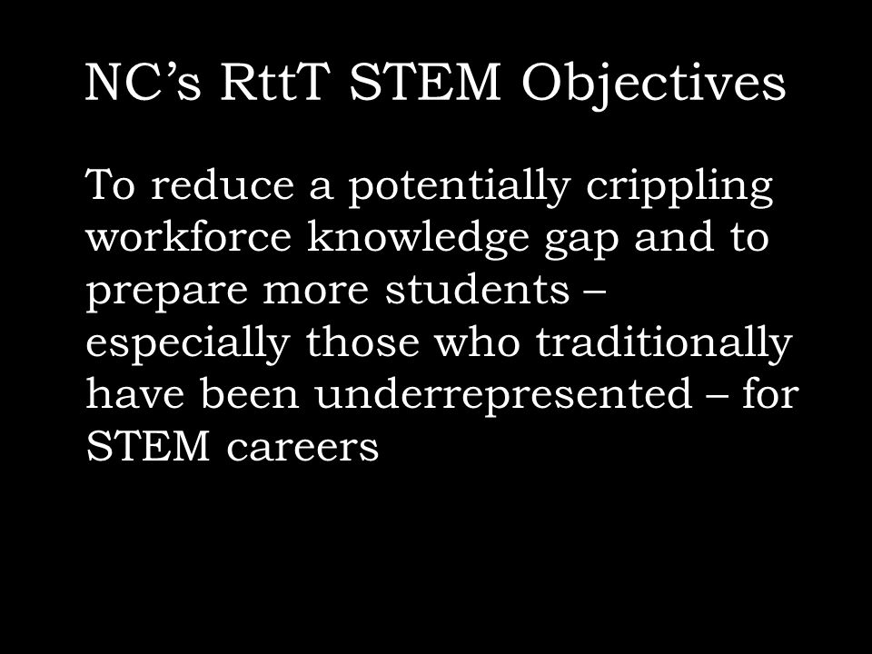 NC's RttT STEM Objectives