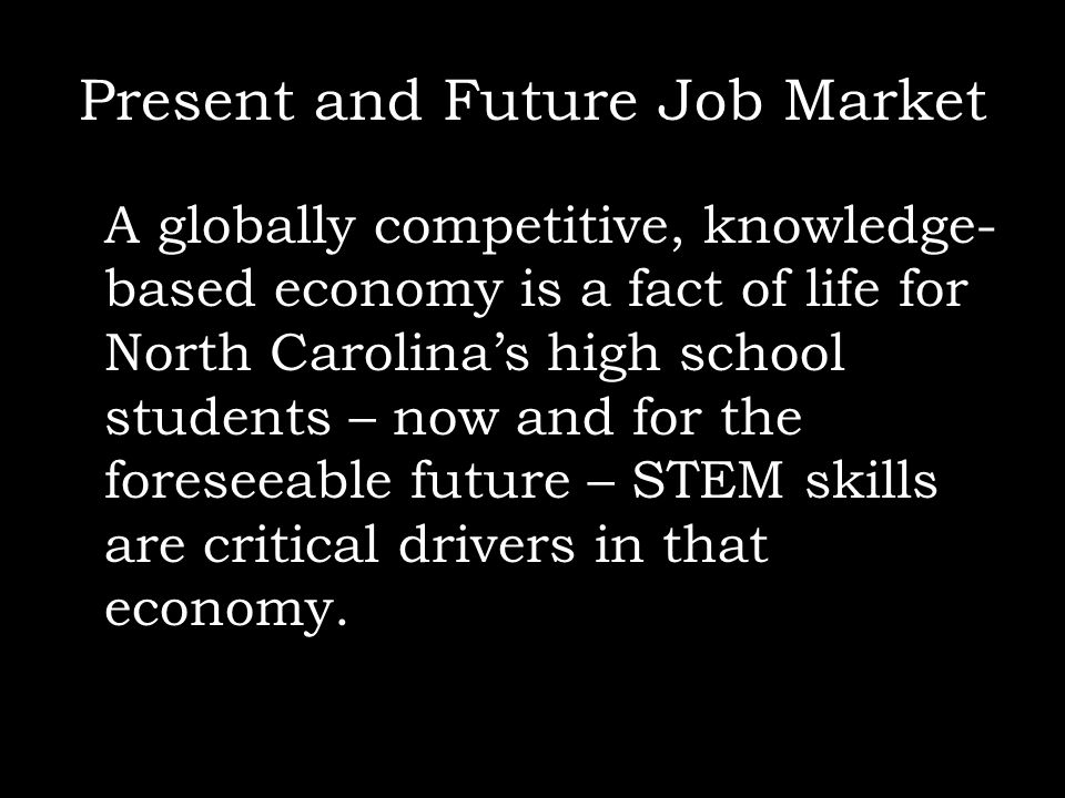 Present and Future Job Market