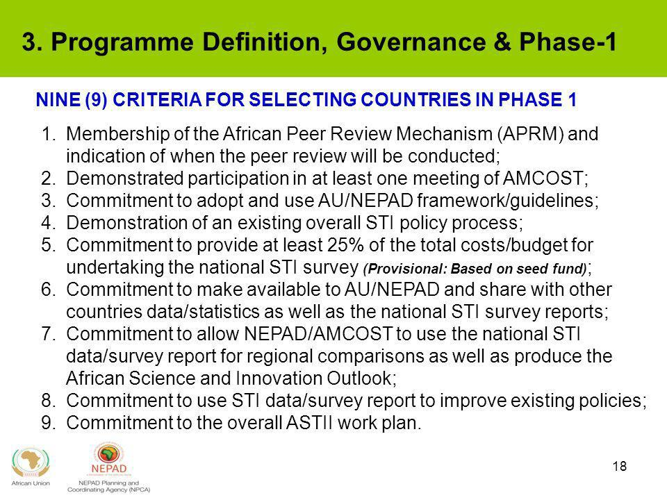 3. Programme Definition, Governance & Phase-1