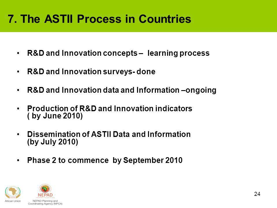 7. The ASTII Process in Countries