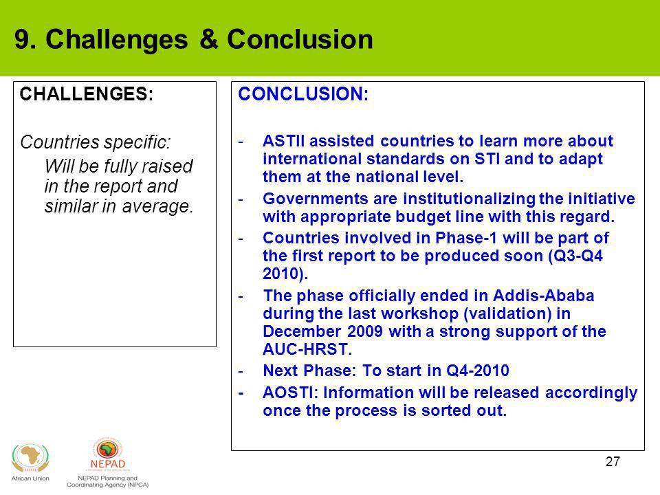 9. Challenges & Conclusion