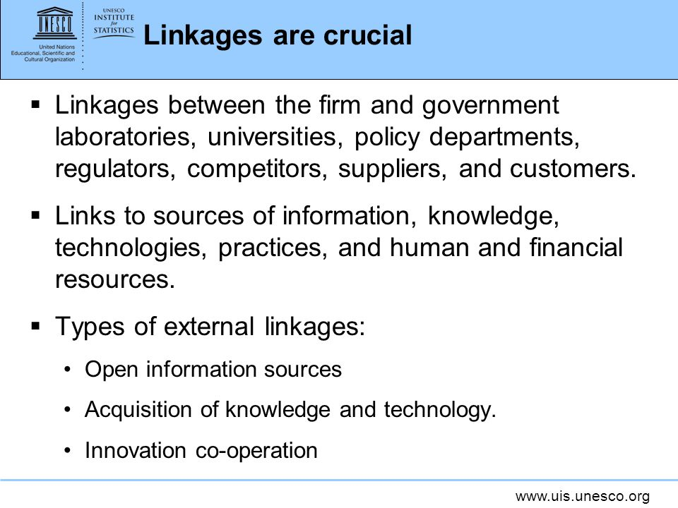 Linkages are crucial