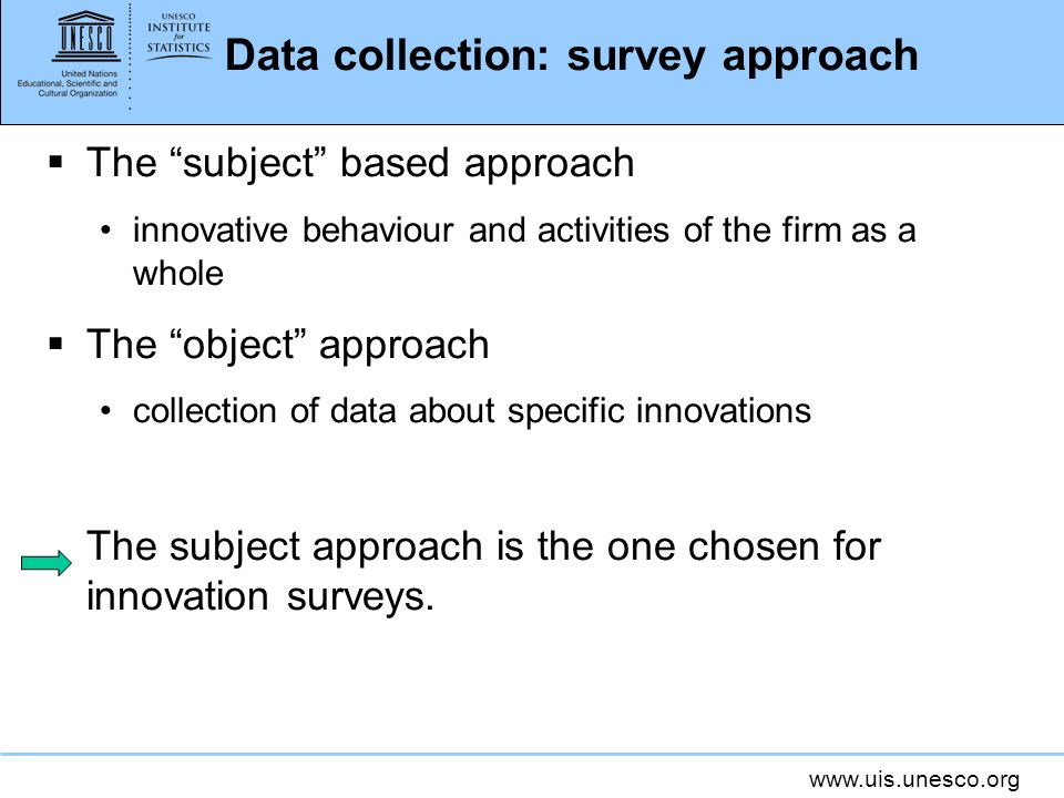 Data collection: survey approach