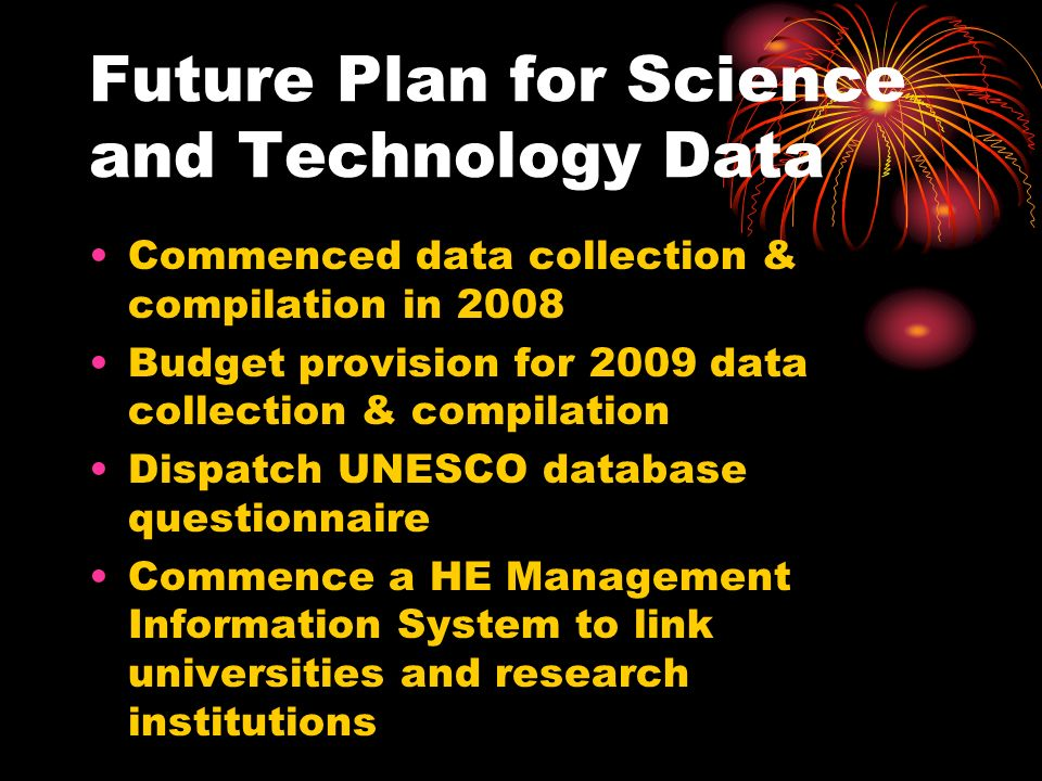 Future Plan for Science and Technology Data