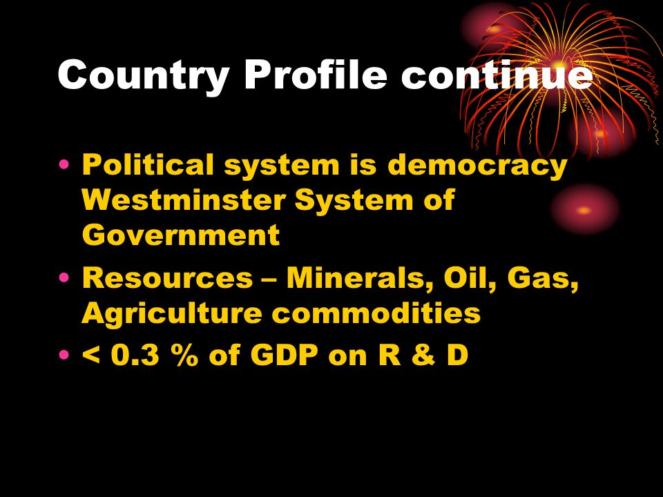 Country Profile continue