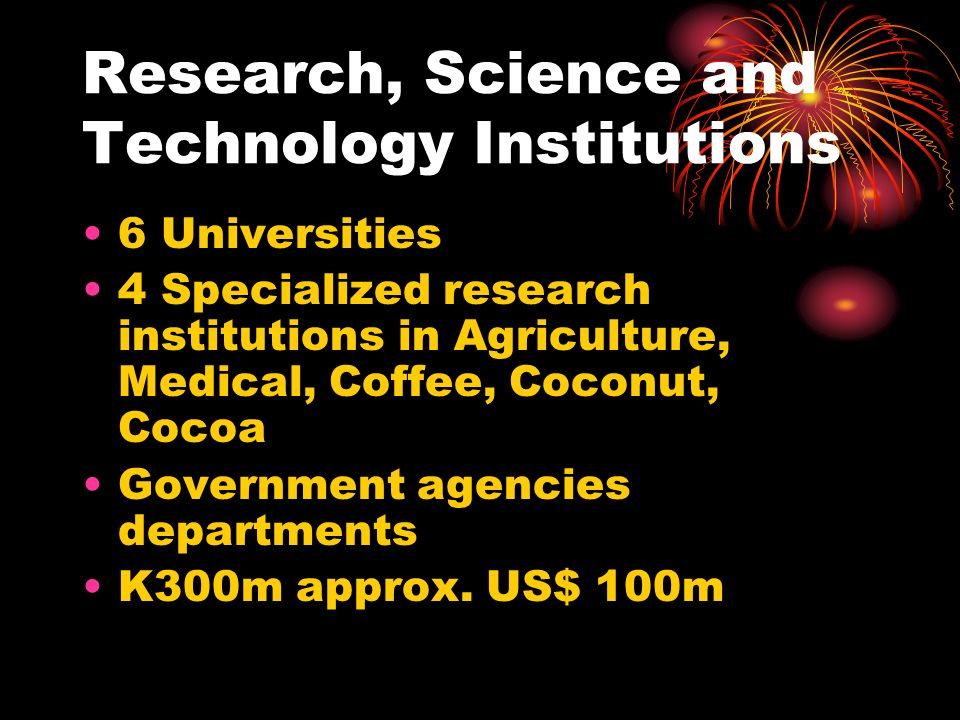Research, Science and Technology Institutions