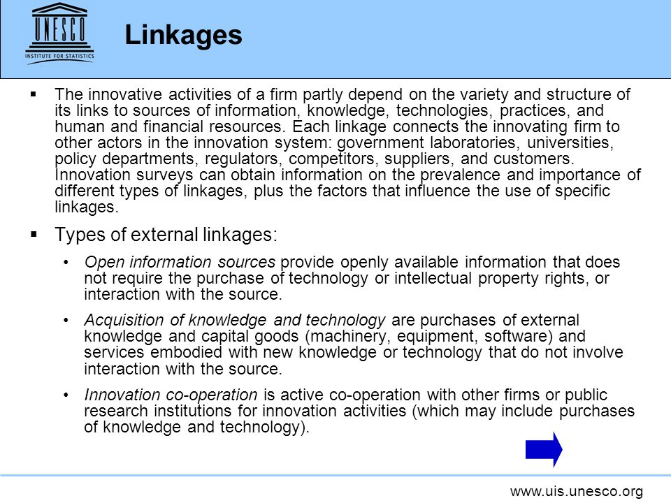 Linkages Types of external linkages: