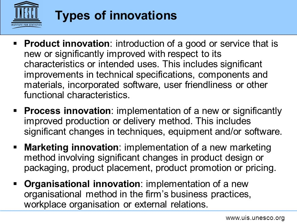 Types of innovations