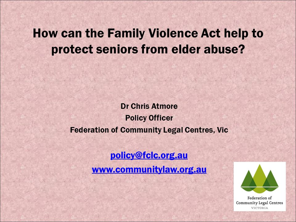Federation of Community Legal Centres, Vic