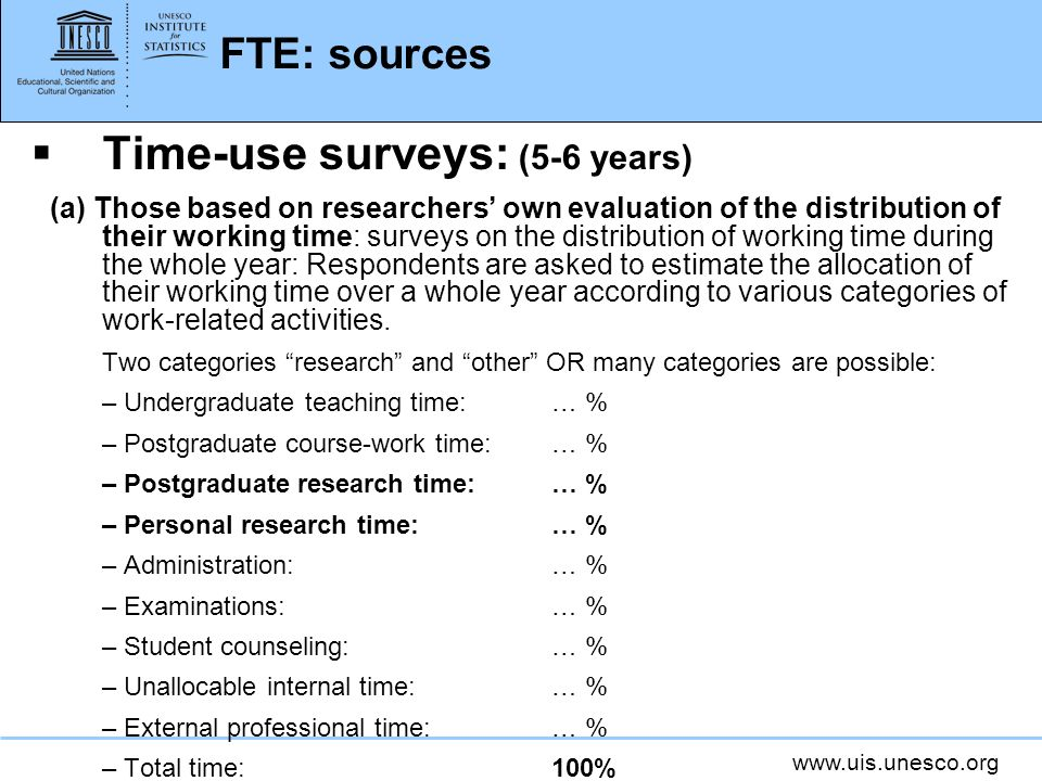 Time-use surveys: (5-6 years)