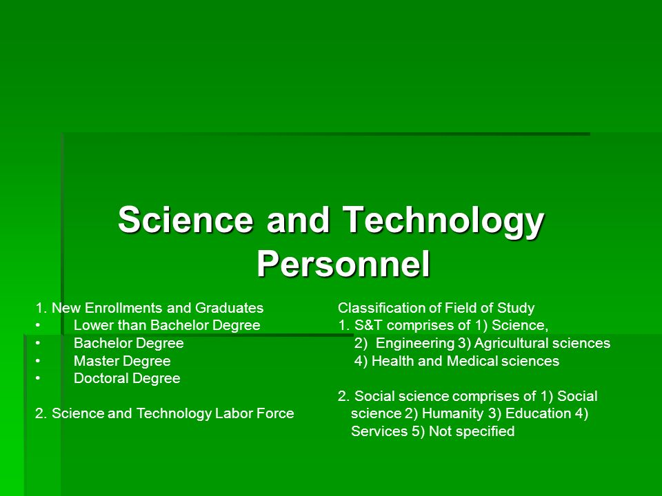 Science and Technology Personnel