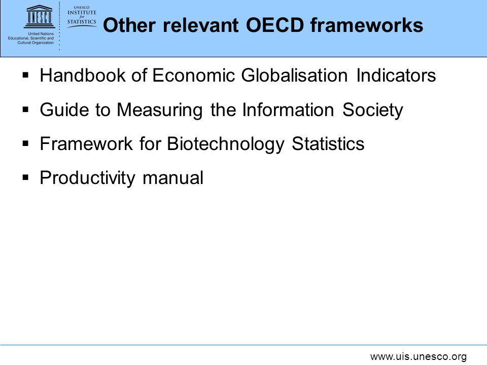 Other relevant OECD frameworks