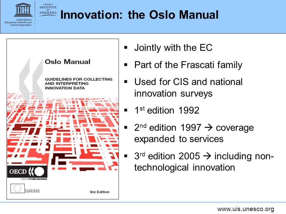 Innovation: the Oslo Manual