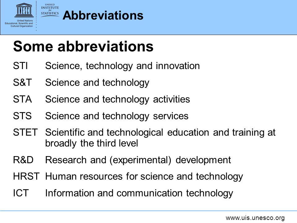 Some abbreviations Abbreviations