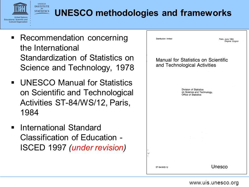 UNESCO methodologies and frameworks