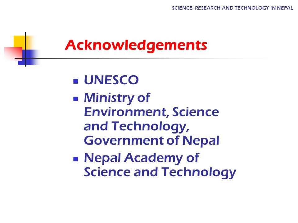 Acknowledgements UNESCO