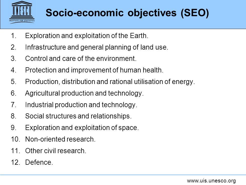 Socio-economic objectives (SEO)