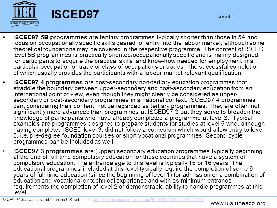 ISCED97 counti..