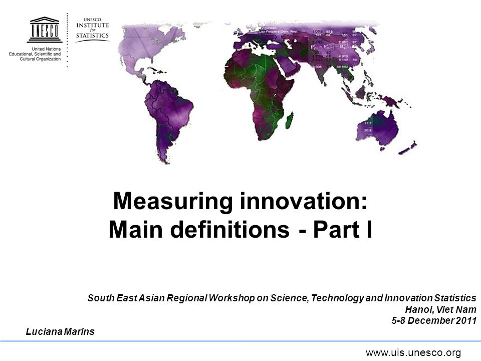 Measuring innovation: Main definitions - Part I