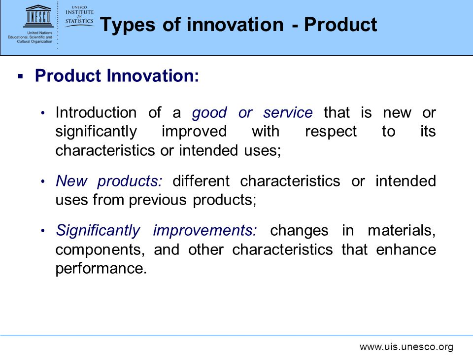 Types of innovation - Product