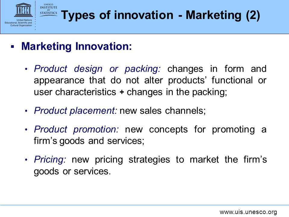 Types of innovation - Marketing (2)