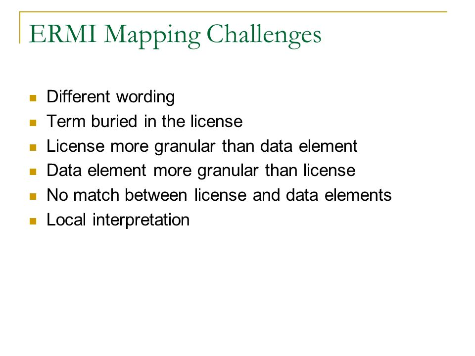ERMI Mapping Challenges