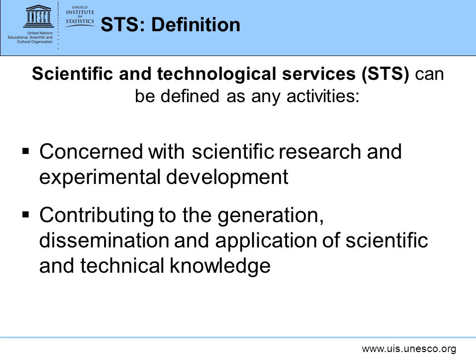 Concerned with scientific research and experimental development