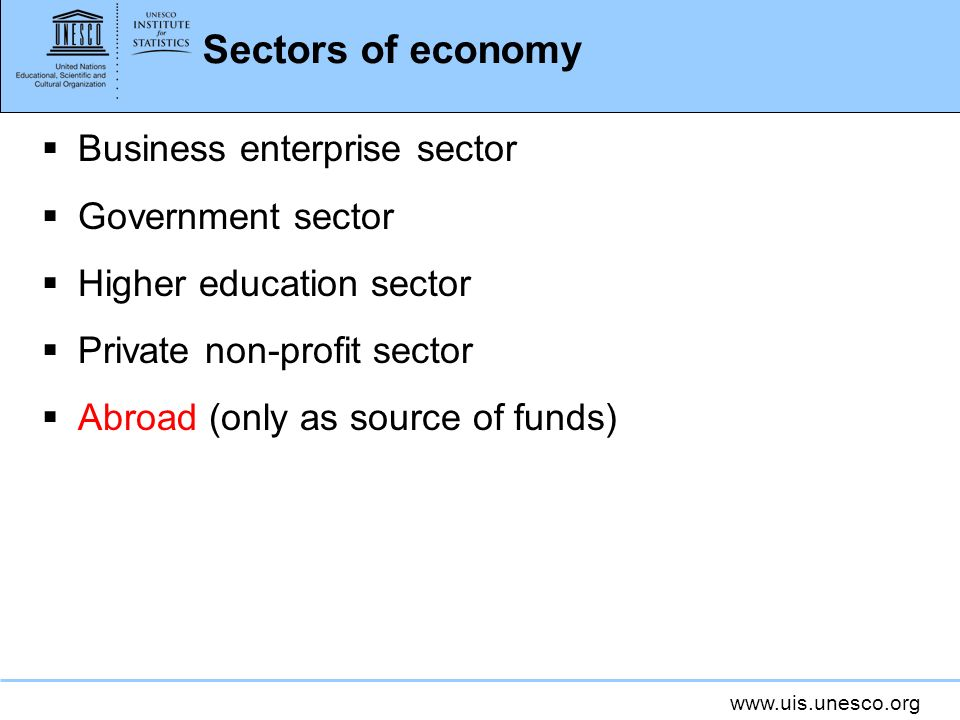 Sectors of economy Business enterprise sector Government sector