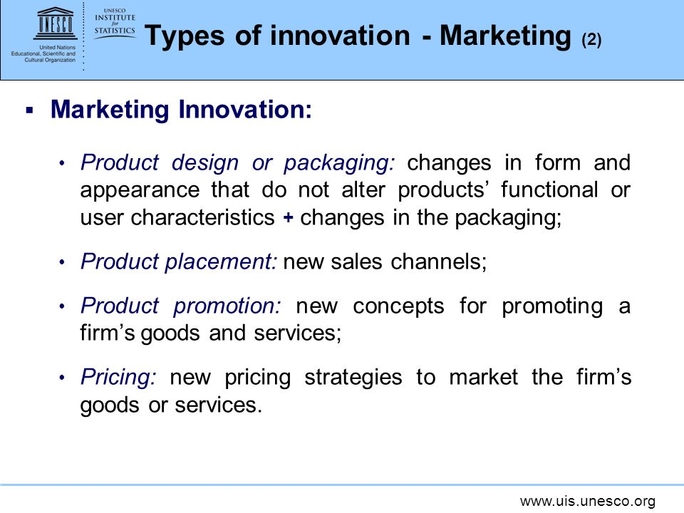 Types of innovation - Marketing (2)