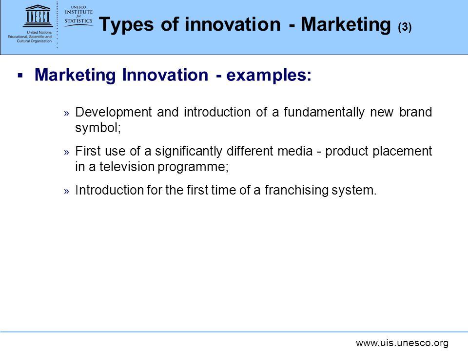 Types of innovation - Marketing (3)