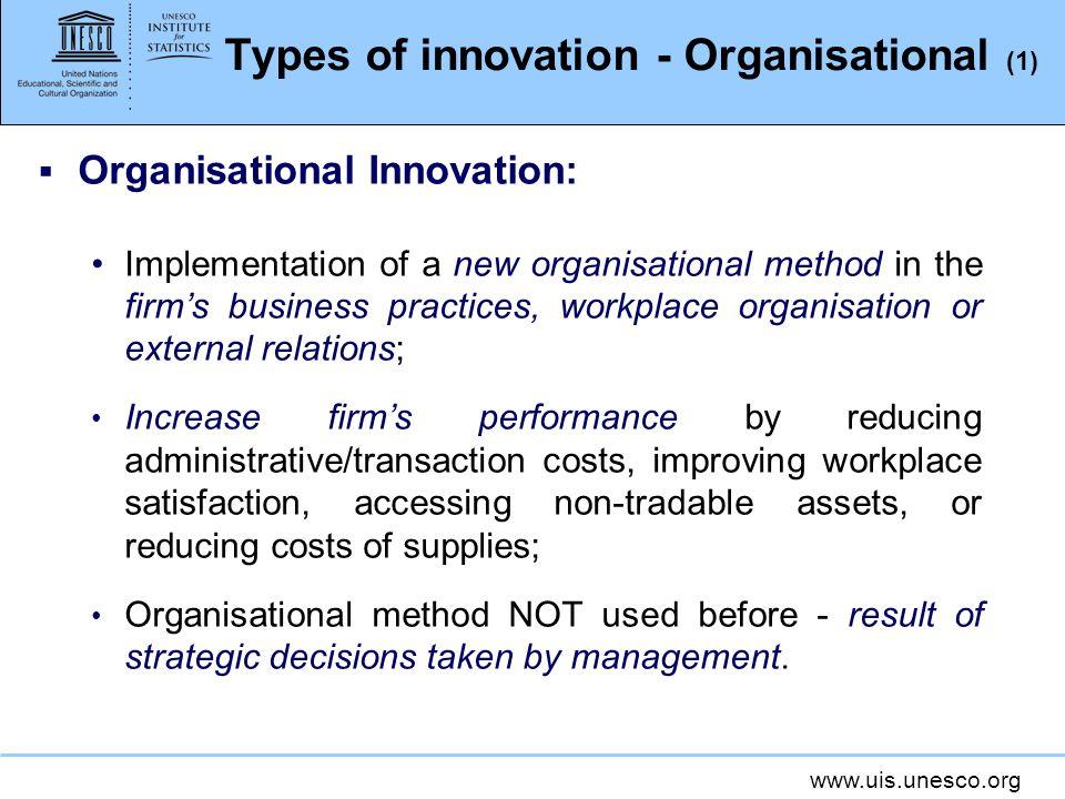 Types of innovation - Organisational (1)