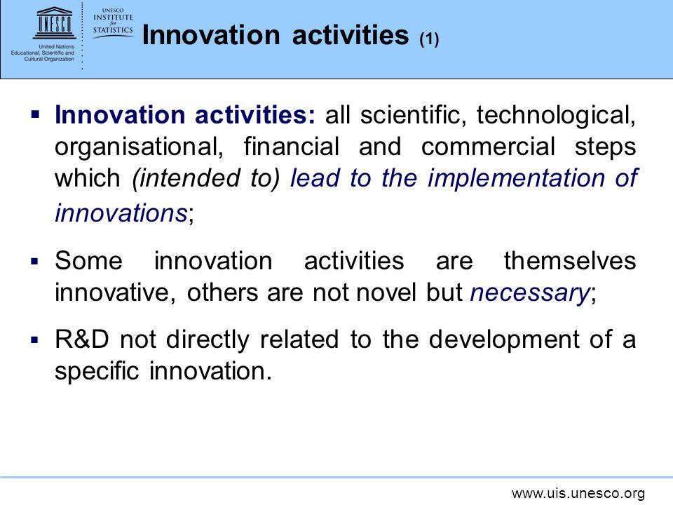 Innovation activities (1)
