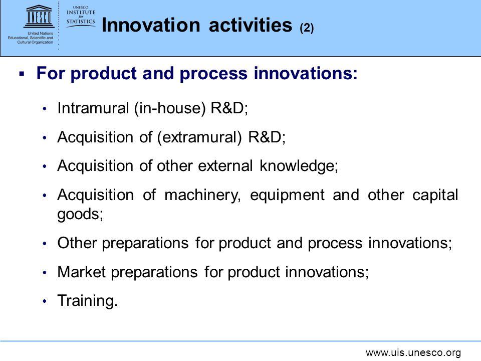 Innovation activities (2)