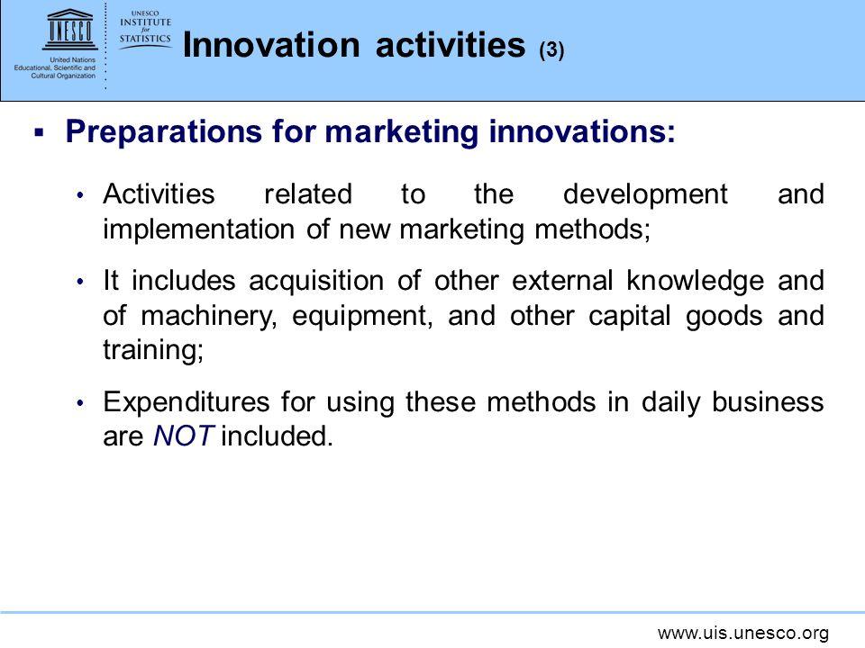 Innovation activities (3)