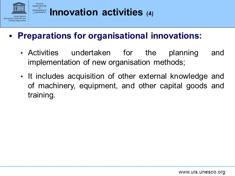 Innovation activities (4)