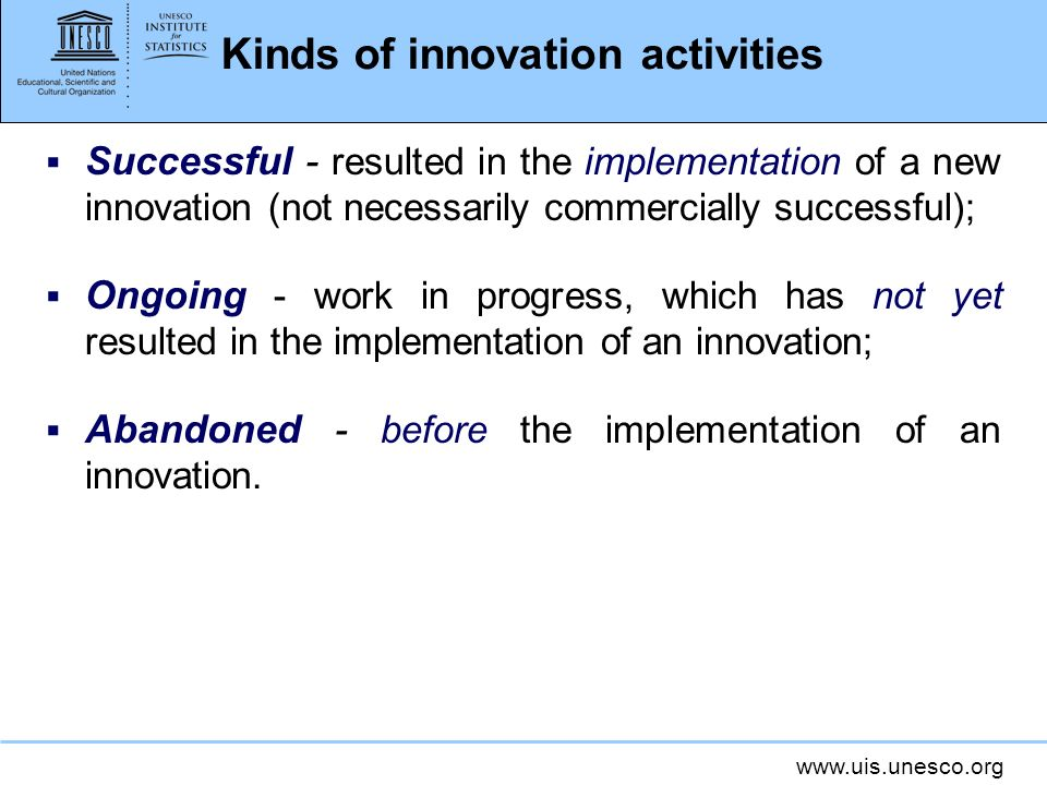 Kinds of innovation activities