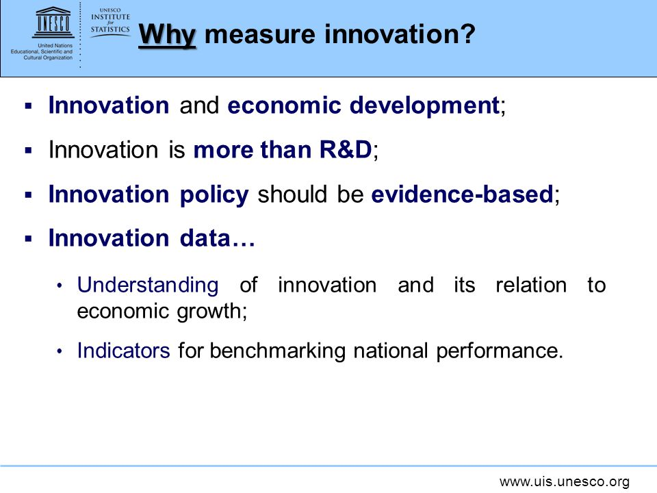 Why measure innovation